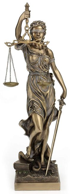 "Greek Goddess Lady of Justice Statue 16/""H La Justicia Themis Dike Figurine Decor"