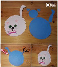 zježená kočička Paper Animal Crafts, Animal Crafts For Kids, Paper Animals, How To Make Paper, 4 Kids, Art Activities, Pet Shop, Kids Rugs, Home Decor
