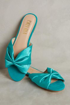 Discover new arrivals in women's accessories at Anthropologie. Shop new jewelry, bags, hats, scarves and more new arrivals. Satin Shoes, Slip On Shoes, Sock Shoes, Cute Shoes, Green Sandals, Shoes Sandals, Anthropologie Shoes, Brown Heels, Teal Green