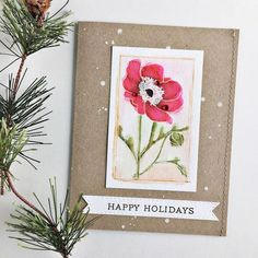 Happy Holidays Card by Heather Nichols for Papertrey Ink (October 2015)