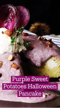 Fun Baking Recipes, Veggie Recipes, Fall Recipes, Cooking Recipes, Crepes, Tastemade Recipes, Delicious Desserts, Yummy Food, Purple Sweet Potatoes