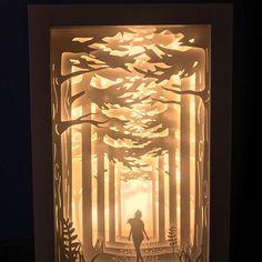 Peter Pan papercut lightbox home decor lamp decorative night 3d Paper, Paper Crafts, Silhouette Cameo 4, Crea Design, Decorative Night Lights, Licht Box, Shadow Box Art, Paper Light, Paper Artwork