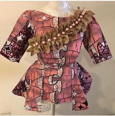 The Ankara fabric is very popular in the Town and I must say, this is a lovely style that has turned the fortune of this fabric.