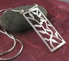 Sterling Silver Vines Pendant by annewalkerjewelry