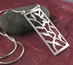 Sterling Silver Vines Pendant by annewalkerjewelry