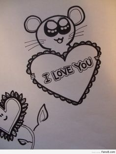 Easy love drawings for him step by step love drawing ideas – boat. Love Drawings For Him, Easy Pictures To Draw, Drawings For Boyfriend, Girl Drawing Easy, Easy Drawing Steps, Easy Drawings For Kids, Drawing Hair, Cute Love Pictures, Simple Pictures