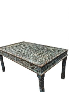 Indian Antique sIDE Table Chakra Hand Carved Brass by MOGULGALLERY ...