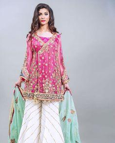 For details please whatsapp me 00923064010486 Shadi Dresses, Pakistani Formal Dresses, Pakistani Wedding Outfits, Pakistani Dress Design, Indian Dresses, Eid Dresses, Fabulous Dresses, Stylish Dresses, Fashion Dresses