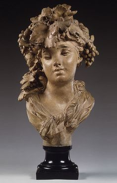 Auguste Rodin (French, 1840–1917). Bacchante, also known as Grapes, ca. 1874. Terracotta, on a wooden base. Metropolitan Museum of Art, New York.