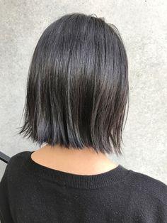 【NORA Journey】透け感暗髪で大人ぱっつんボブ♪
