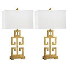Safavieh Greek Key Table Lamp (Set of 2)