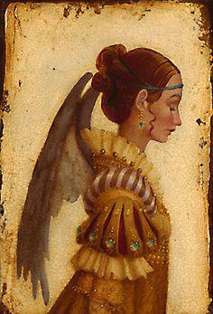 James C. Christensen - Portrait of Isabela Grimaldi as an Angel
