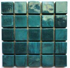 25 1/2 inch Dark Teal Opaque Glass Mosaic Tiles/ Teal Glass Mosaic Tiles/ Emerald Green Glass Tiles/ Caribbean Blue Glass Tiles