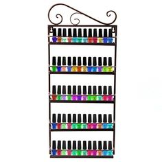 Dazone Nail Polish Wall Rack Organizer Holds 50 Bottles Nail Polish Shelf Bronze >>> Read more  at the image link.