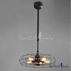 Suspension Industry Wrought Iron Fan Five-light LED Pendant, Fashion Style Industrial Lighting Warm Industrial, Industrial Lighting, Pendant Lighting, Loft Lighting, Unique Lighting, Ceiling Fans, Ceiling Lights, Barn Apartment, Cottage Lighting