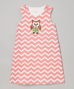 Take a look at this Coral Zigzag Owl Monogram Jumper - Infant, Toddler & Girls by Lollypop Kids Clothing on #zulily today!