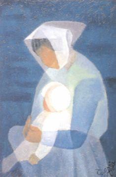 Douce maternité par Louis Toffoli