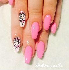 Love cats and Disney? This is the manicure for you! You can even add another kitty to the mix if you'd like.