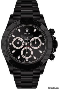 Rolex Daytona Black by Blaken Chronograph $24,802 #Rolex #watch #watches…