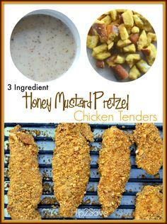 Honey Mustard Chicken Tenders (Only 3 Ingredients)
