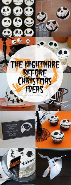 30 The Nightmare Before Christmas Ideas - Perfect for Halloween for fans of Jack Skellington and his spooky world! Fröhliches Halloween, Halloween Birthday, Holidays Halloween, Halloween Cupcakes, Halloween Movies, Nightmare Before Christmas Decorations, Nightmare Before Christmas Halloween, Halloween Decorations, Christmas Birthday Party