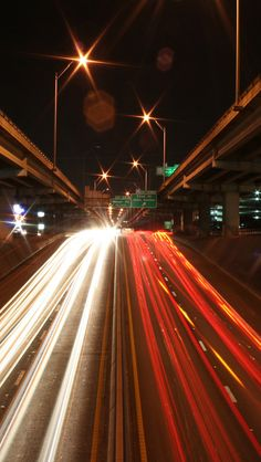 highways at night