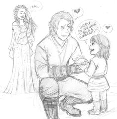 Padme, Anakin and little Leia :3