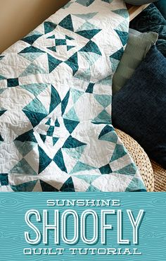 Let the sunshine in with Jenny's latest tutorial for the Sunshine Shoofly quilt, built with a combination of hourglass and shoofly blocks that come together easily for an instant classic. Follow the link below to watch the free quilting tutorial now. #MissouriStarQuiltCo #MSQC #SunshineShooflyQuilt #QuiltingTutorial #QuiltPattern