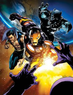 Sub-Mariner, Iron Man and the Black Panther - Leinil Yu