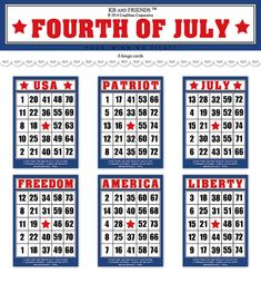 Of July Cards Printable Fresh Fourth Of July Bingo Cards Printable Bingo Cards Patriotic Bingo Cards Digital Bingo Cards Bingo Cards, Printable Cards, Greeting Cards, Printables, Free Printable, And July, Fourth Of July, Valentine Bingo, July Holidays