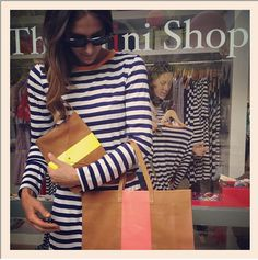 minnie mortimer and my bag! I can never get enough of stripes. Never.