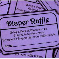diaper raffle free printable | Free Printable Diaper Raffle Tickets