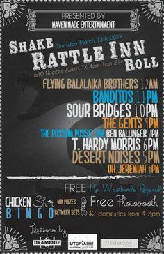 Shake Rattle Inn Roll #sxsw #sxsw2014