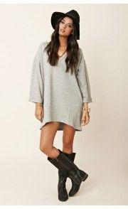 Blu Moon Cozy V-Neck Sweater Dress