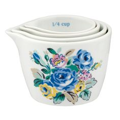 Cath Kidston - Highgate Rose measuring cups, set of 4 (020454089BLUE) $24, cathkidston,com sale $14.40