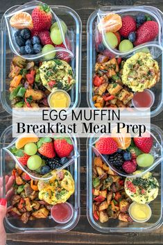 Egg Muffin Breakfast Meal Prep A filling, easy to make, and deliciou. - Egg Muffin Breakfast Meal Prep A filling, easy to make, and delicious breakfast meal pr - Healthy Meal Prep, Healthy Drinks, Healthy Snacks, Healthy Recipes, Vegetarian Meal Prep, Top Recipes, Healthy Meal Options, Clean Food Recipes, Easy Lunch Meal Prep