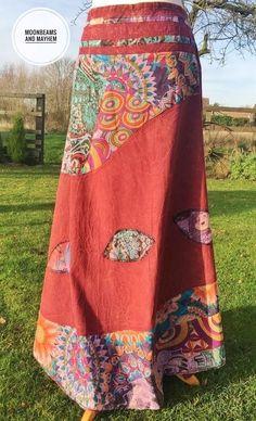 BEAUTIFUL NEW BOHEMIAN LONG SKIRT SIZE 10 12  HIPPIE BOHO DRESS GYPSY TOP TALL #GRINGO #Boho