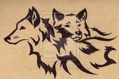 tribal wolf tattoo | Tribal Wolf Mates Three by Shadowdemon77 on deviantART