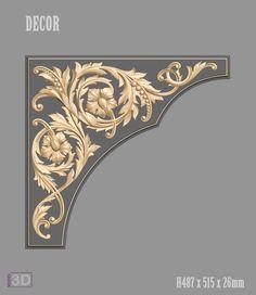 Decor models for cnc router Baroque Design, Victorian Design, Door Design, Wall Design, Decorative Corbels, Art Nouveau Illustration, Hand Painted Wallpaper, Panel Moulding, Scroll Pattern