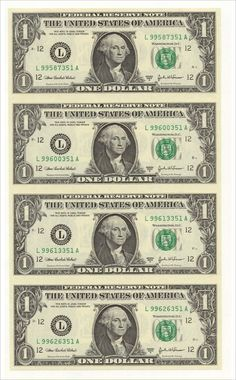 Fake Dollar Bill, One Dollar, Fake Money Printable, Play Money Template, Bill Template, Templates Printable Free, Printables, Anniversaire Cow-boy, Tableau Pop Art