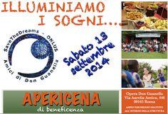 Apericena di Beneficenza 13 Settembre 2014 Via Aurelia Antica 446 Roma