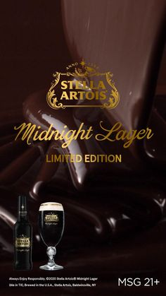 Taste our limited-edition Stella Artois Midnight Lager, roasted with delicious notes of chocolate and espresso.