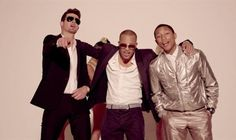 Blurred Lines (Unrated Version) by Robin Thicke / not the best video, per se, but definitely the most adorably boobalicious!! also with the most dramatically annoying social media call-to-action evar...