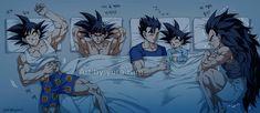 Goku, Bardock, Gohan, Goten and Raditz