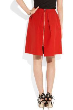 Roland Mouret|Kava pleated wool-crepe skirt|NET-A-PORTER.COM