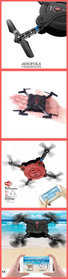 Quadcopter Drone with FPV Camera and Live Video - Flexible Foldable Aerofoils - App and Wifi Phone Control UAV - Altitude Hold 3D Flips & Rolls- 6-Axis Gyro Gravity Sensor RTF Helicopter