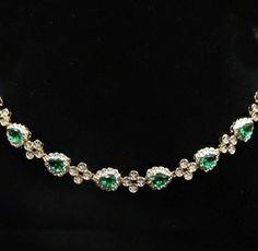 Jackie's Emerald Drop Necklace was worn to the inaugural gala on January 20, 1961. She loved it so much that she continued to wear it throughout her life.