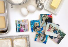 Photo cookies - such a cute gift! #photocookies #logocookies #familycookies #customcookies #mothersdaycookies #fathersdaycookies #mothersdaygift #fathersdaygift #foodstyling #cookiestyling