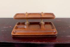 Vintage Men's Dresser Valet Coin Holder Swank Jewelry Organizer Mid Century