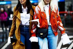 Every Working Woman Should Try This Shirt Trend via @WhoWhatWear